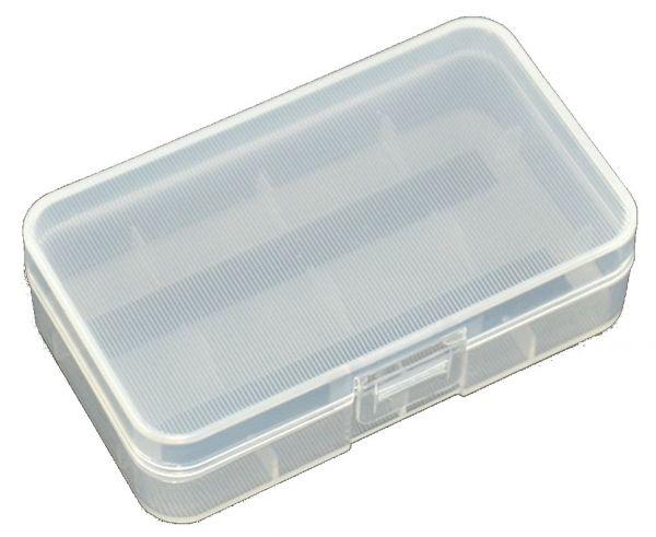 Akkubox für 2x 18650 Akku Transparent