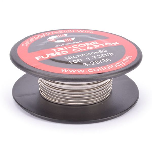 Coilology - Ni80 Tri-Core Fused Clapton auf Rolle 3 Meter