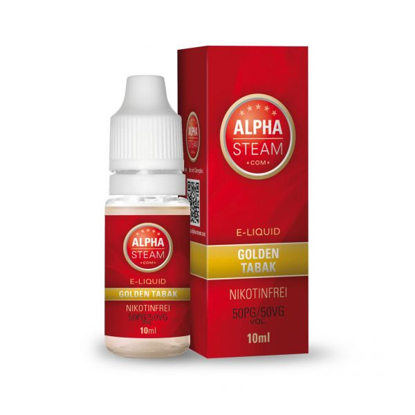 Alpha Steam Liquid 50/50 MTL - Goldener Tabak