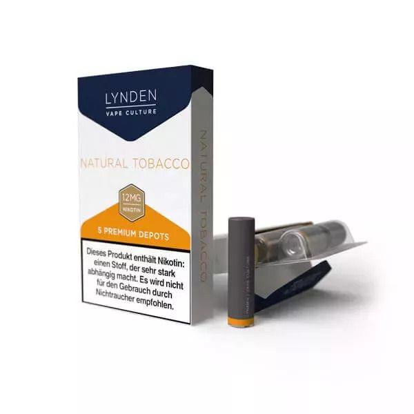 LYNDEN - Premium Set Depot Natural Tobacco 5er Pack - 12mg