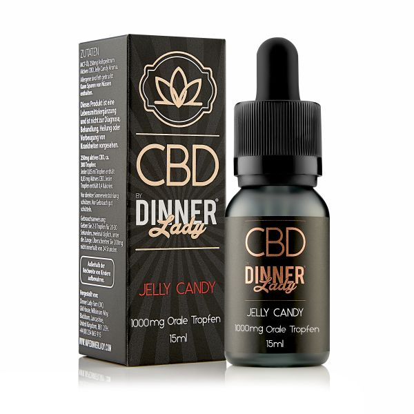 Dinner Lady CBD - Oral Drops Jelly Candy 15ml 1000mg