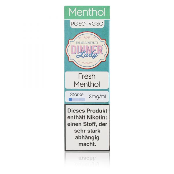 Dinner Lady Menthol 50/50 - Fresh Menthol Liquid 10ml