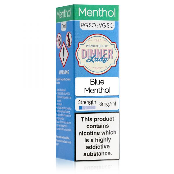 Dinner Lady Menthol 50/50 - Blue Menthol Liquid 10ml