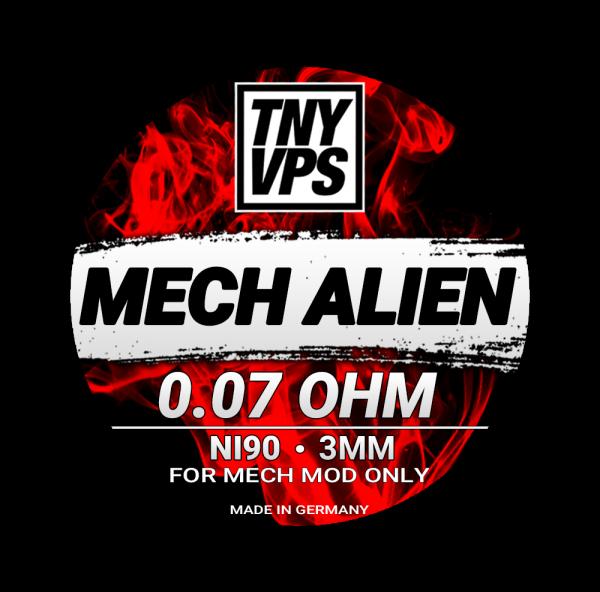 TNYVPS - Ni90 Mech Alien Coils 0,07 Ohm Tony Vapes