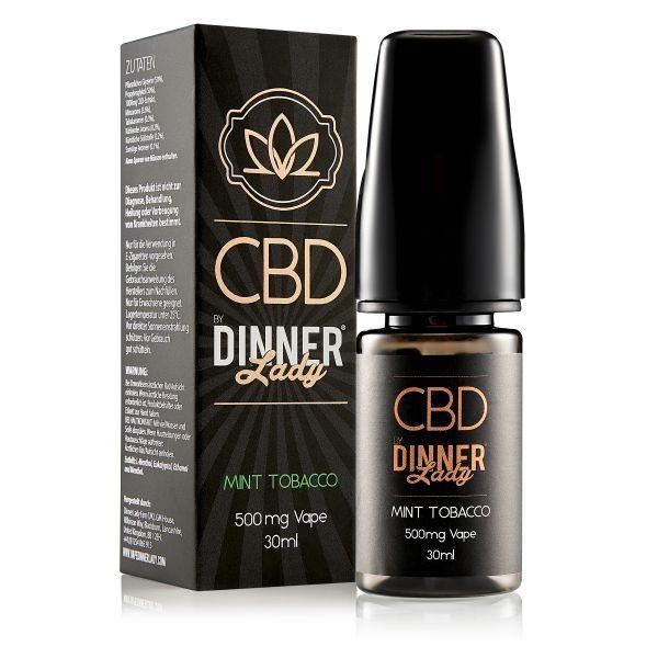 Dinner Lady CBD - Mint Tobacco Liquid 500mg 30ml