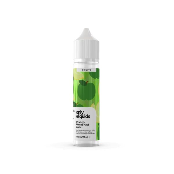 Only Fruits Aroma - Melone Apfel Kiwi 15ml Longfill