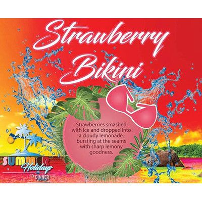 Dinner Lady - Strawberry Bikini