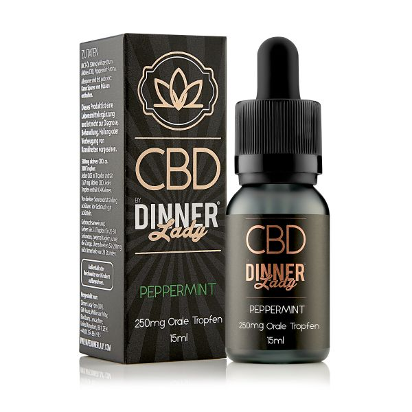 Dinner Lady CBD - Oral Drops Peppermint 15ml 250mg