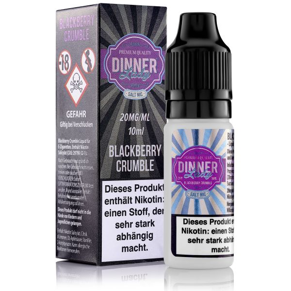 Dinner Lady SaltNic - Blackberry Crumble Liquid 10ml 20mg/ml