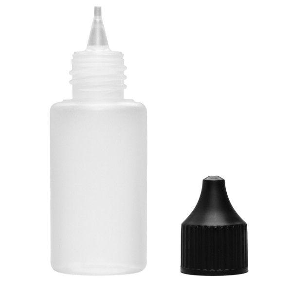 Liquid Flasche 30ml Rund mit Spitze und Deckel