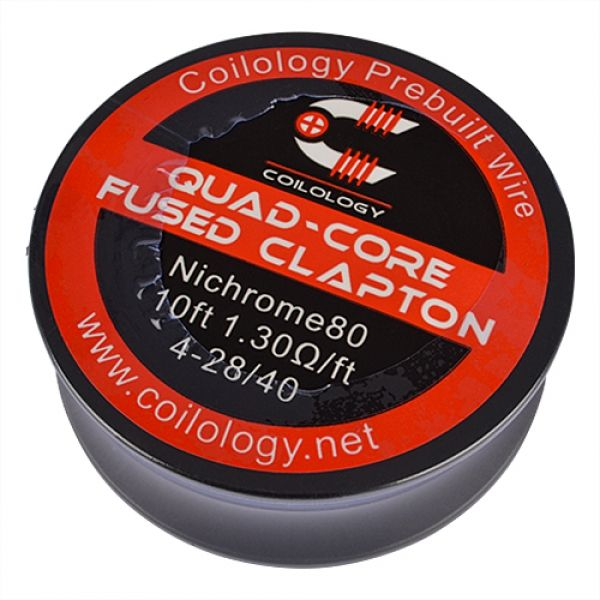 Coilology - Ni80 Quad-Core Fused Clapton auf Rolle 3 Meter