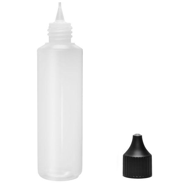 Liquid Flasche 250ml Rund mit Spitze und Deckel