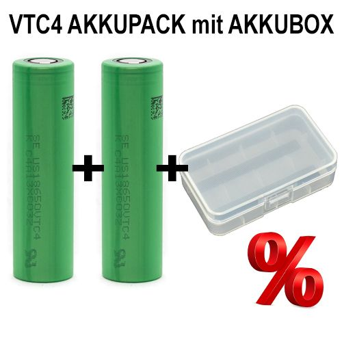 Sony - Konion VTC4 DUO-Pack in Akkubox