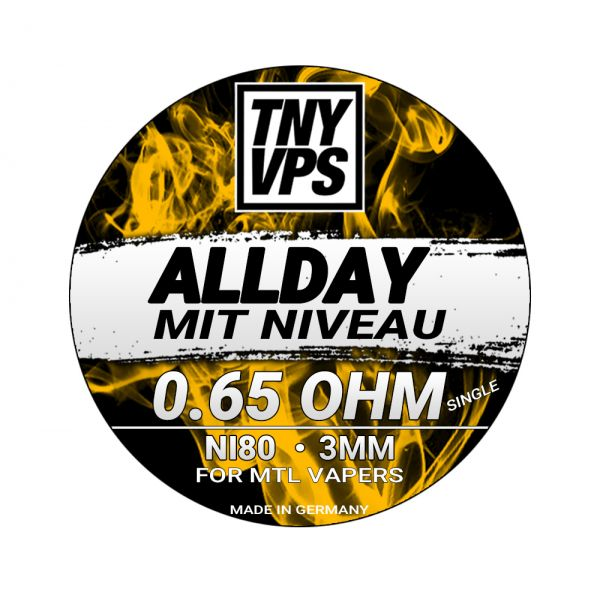 TNYVPS - Ni80 MTL Alien Handmade Coils 0,65 Ohm Tony Vapes