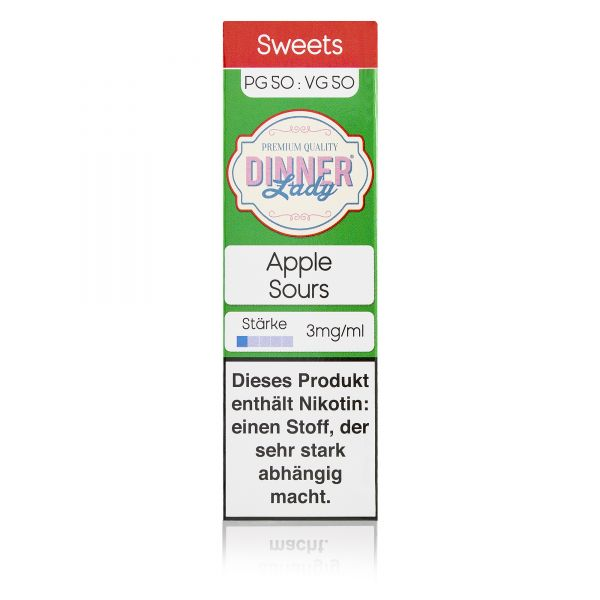Dinner Lady Sweets 50/50 - Apple Sours Liquid 10ml
