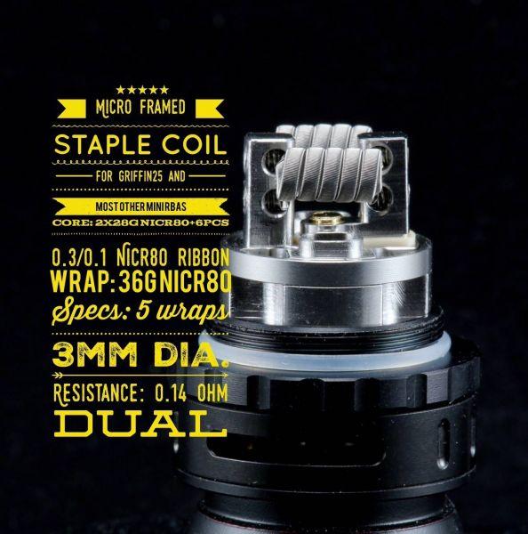 Tasty Ohm Coils - 2x Micro Framed Staple Coil