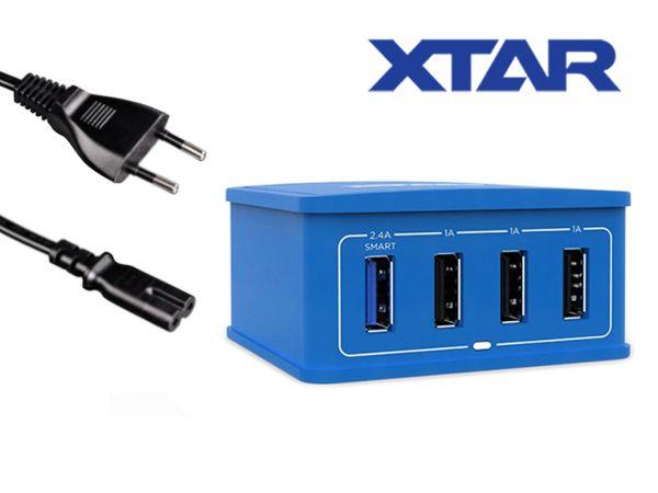 Xtar - 4 Port E-Zigaretten USB Schnellladegerät Schwarz