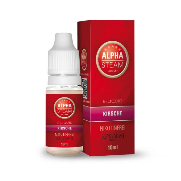 Alpha Steam Liquid 50/50 MTL - Kirsche