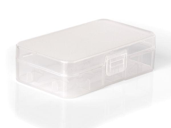 Akkubox für 2x 20700/21700 Akku Transparent