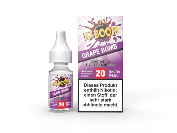 K-Boom - Grape Bomb Nic Salt Liquid 20mg/ml 10ml
