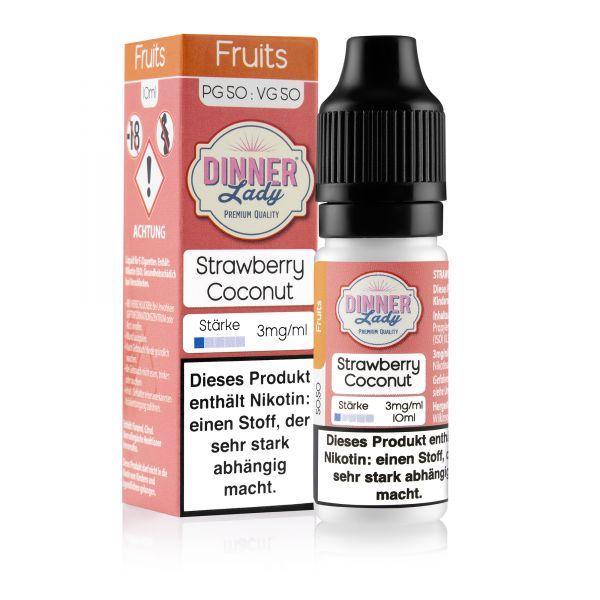 Dinner Lady Fruits 50/50 - Strawberry Coconut Liquid 10ml