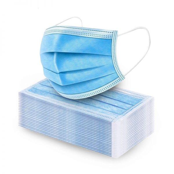Mundschutz Gesichtsmaske - Vliesstoff 3-lagig 10er Pack