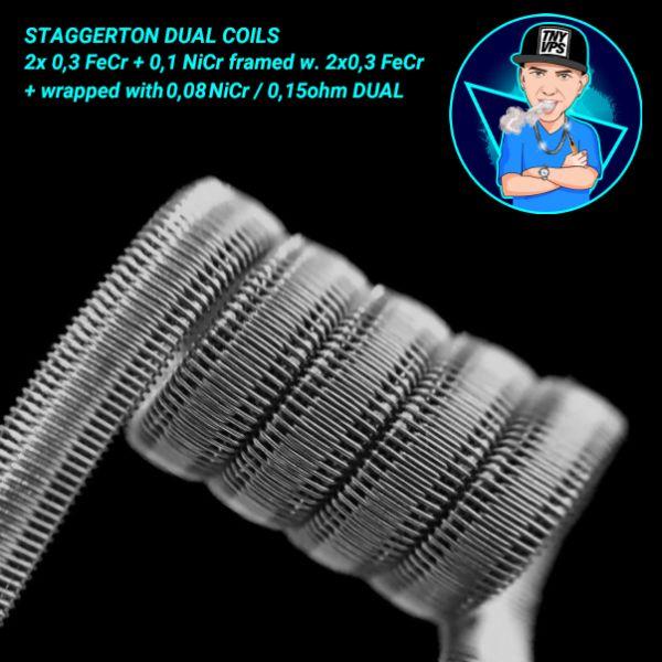 Tony Vapes Coils - Cloudchaser Coils Dual 0,15 Ohm Handmade