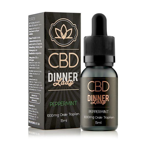 Dinner Lady CBD - Oral Drops Peppermint 15ml 1000mg