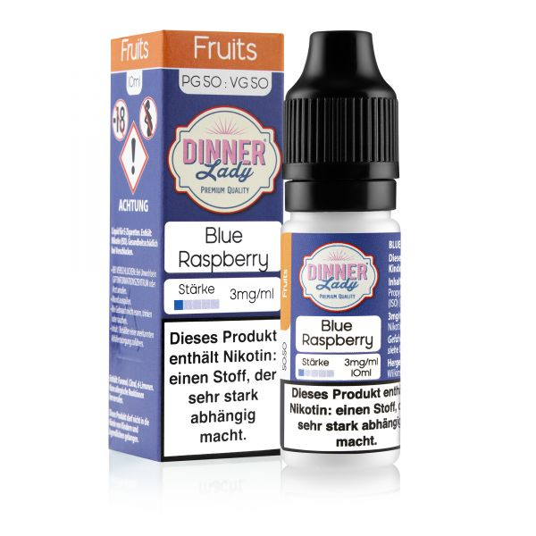 Dinner Lady Fruits 50/50 - Blue Raspberry Liquid 10ml