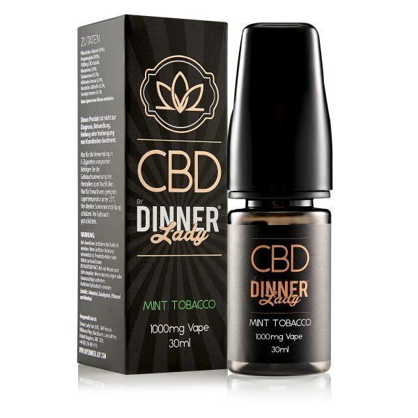 Dinner Lady CBD - Mint Tobacco Liquid 1000mg 30ml
