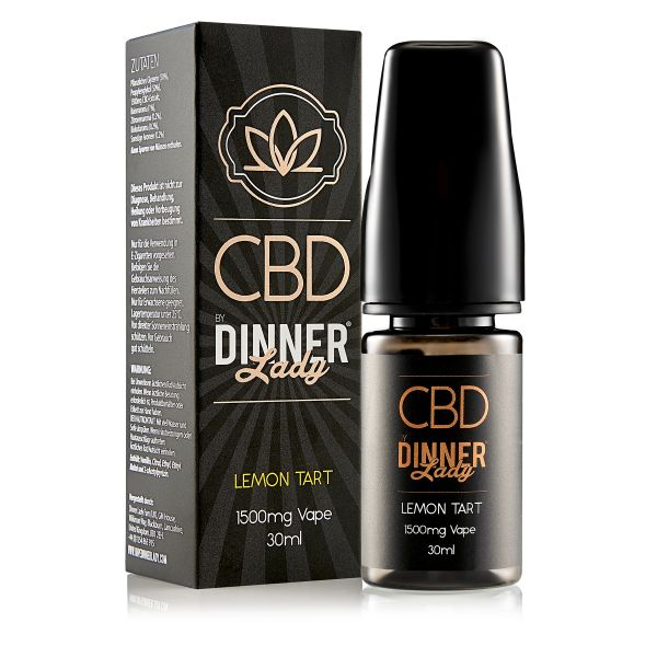 Dinner Lady CBD - Lemon Tart Liquid 1500mg 30ml