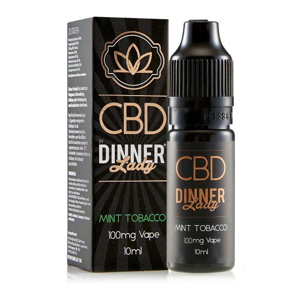 Dinner Lady CBD - Mint Tobacco Liquid 100mg 10ml