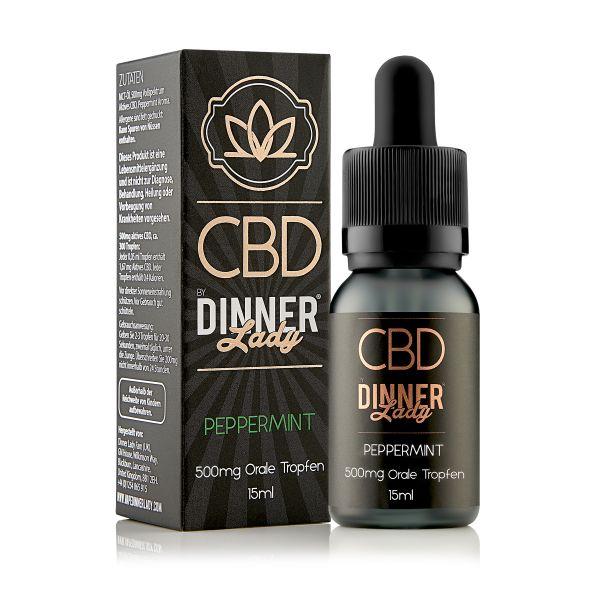 Dinner Lady CBD - Oral Drops Peppermint 15ml 500mg