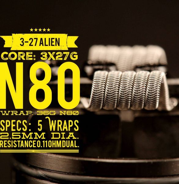 Tasty Ohm Coils - 3-27 Alien Coils