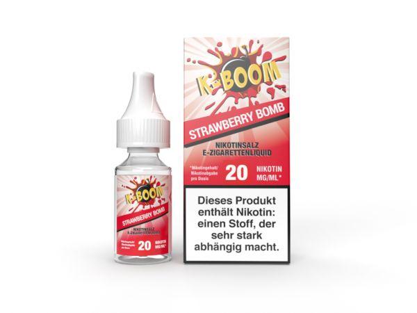 K-Boom - Strawberry Bomb Nic Salt Liquid 20mg/ml 10ml