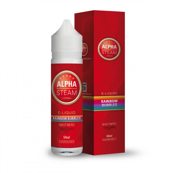 Alpha Liquid - Rainbow Bubbles 50ml