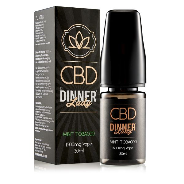 Dinner Lady CBD - Mint Tobacco Liquid 1500mg 30ml