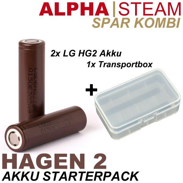 Spar Kombi HAGEN 2 - 2x LG HG2 + Dual Akkubox